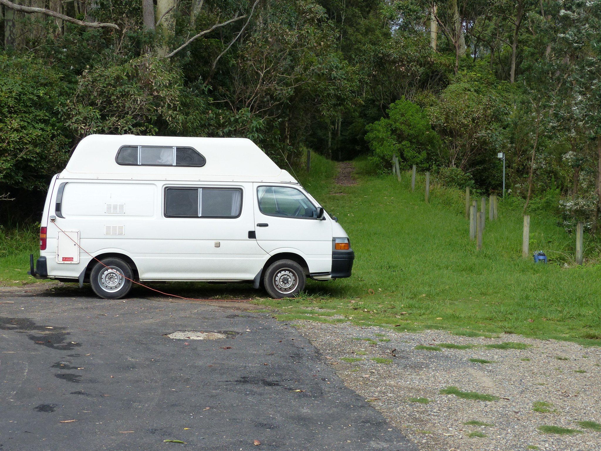 Our home for 1 month: 2002 Toyota Hiace with top floor (a k a the